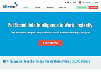 talkwalker.com screenshot