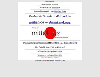 Main page screenshot of mittel.de