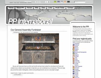 Main page screenshot of pp-international.net