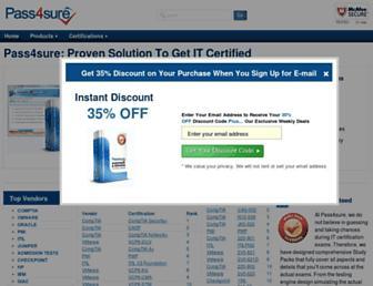 pass-4sure.me.uk screenshot