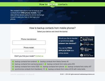 howtobackupcontacts.com screenshot