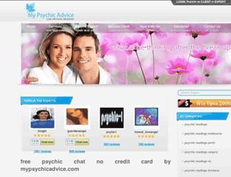 mypsychicadvice.com screenshot