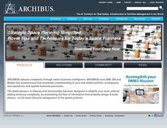 archibus.com screenshot