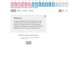 genderguesser.com screenshot