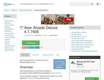 acer-arcade-deluxe.updatestar.com screenshot