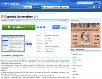 copernic-summarizer.findmysoft.com screenshot
