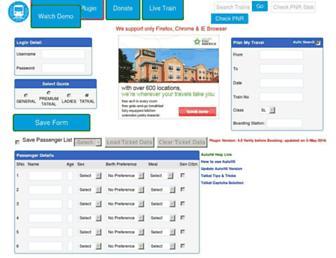 myrailinfo.in screenshot