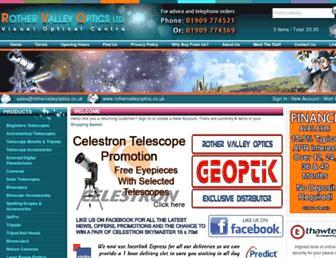 rothervalleyoptics.co.uk screenshot