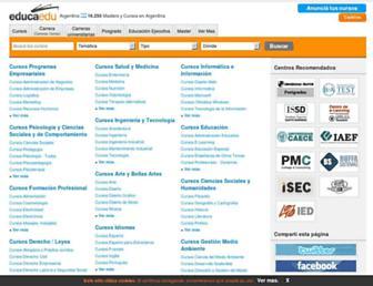 Main page screenshot of educaedu.com.ar