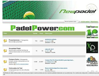 newpadel.com screenshot