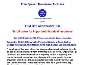 Main page screenshot of fsm-a.org