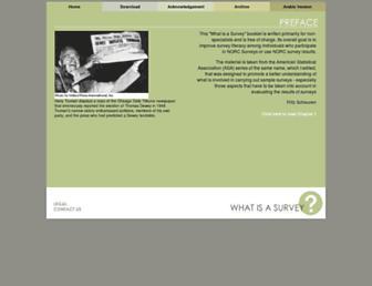 Main page screenshot of whatisasurvey.info