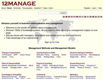 12manage.com screenshot