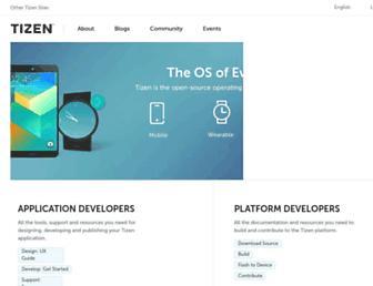 Thumbshot of Tizen.org