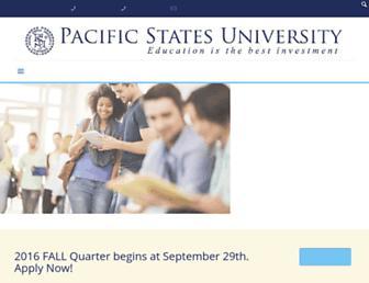 Main page screenshot of psuca.edu