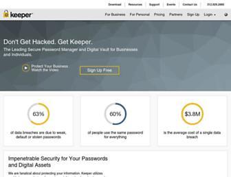 keepersecurity.com screenshot