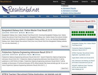 Thumbshot of Resultinbd.net