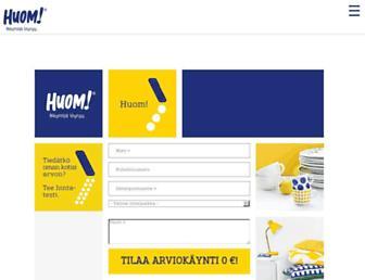 Screenshot for huom.fi