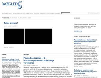 Main page screenshot of razgledi.net