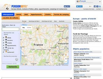 pensionhotel.fr screenshot