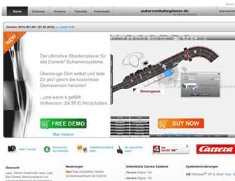 autorennbahnplaner.de screenshot