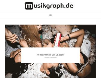 Main page screenshot of musikgraph.de
