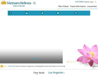 vietnamairlines.com screenshot