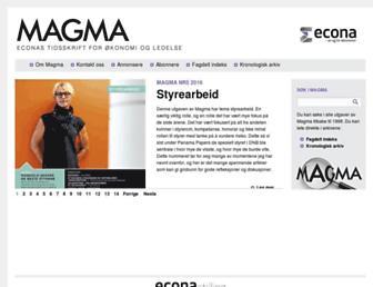magma.no screenshot