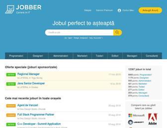 Main page screenshot of jobber.ro