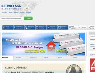Main page screenshot of lemona.lt