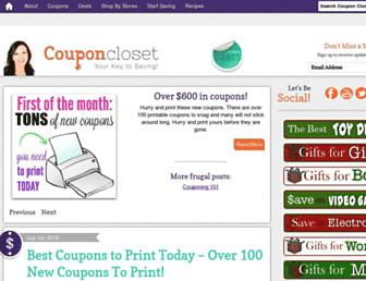 Thumbshot of Couponcloset.net
