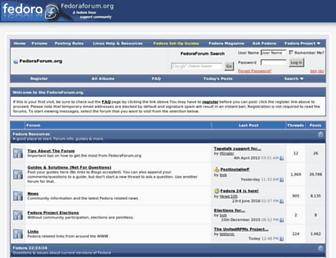 forums.fedoraforum.org screenshot