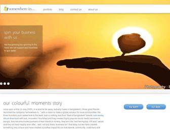 Main page screenshot of somewherein.net