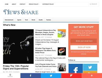 newsshare.in screenshot