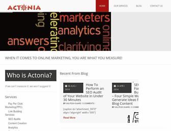 actonia.com screenshot