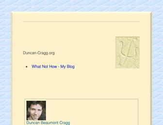 Main page screenshot of duncan-cragg.org