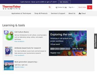 thermofisher.com screenshot