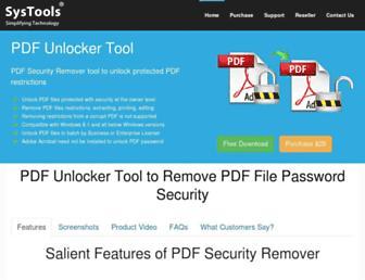 pdfunlocker.org screenshot