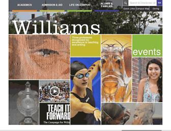 web.williams.edu screenshot