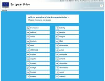 Main page screenshot of europa.eu