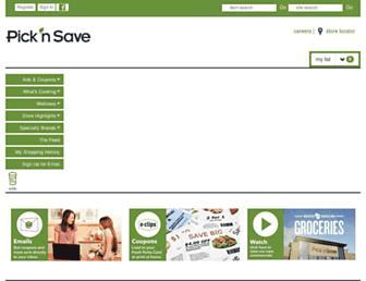 picknsave.com screenshot