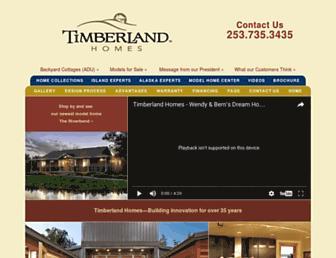 timberland-homes.com screenshot