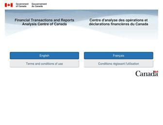 fintrac-canafe.gc.ca screenshot