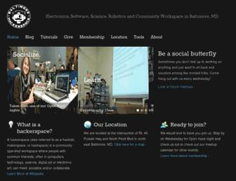 baltimorehackerspace.com screenshot