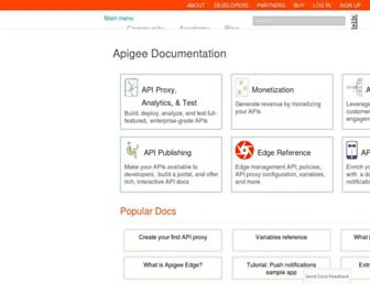 docs.apigee.com screenshot
