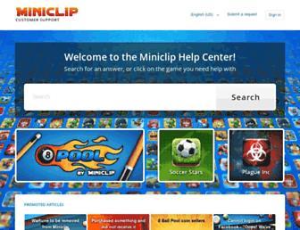 support.miniclip.com screenshot