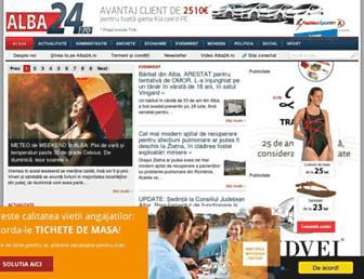 Main page screenshot of alba24.ro