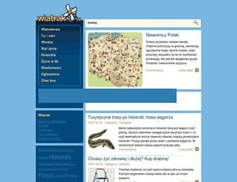 Main page screenshot of wiatrak.nl
