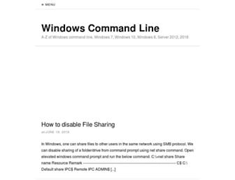 windows-commandline.com screenshot