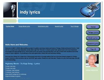 indylyrics.blogspot.com screenshot